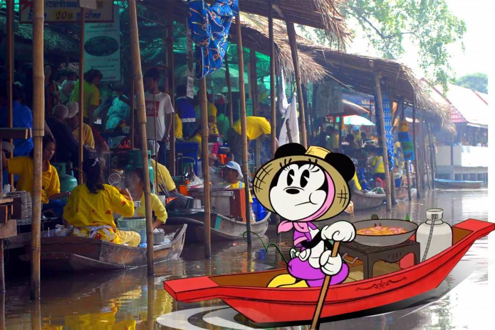 เที่ยวตลาดน้ำ ตามรอยมิกกี้ ที่บางน้ำผึ้ง