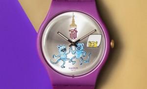 """""""แมวไม่อยู่ หนูระเริง""""นาฬิกาข้อมือสวอท์ช รุ่นพิเศษฉลอง72 ปีสมาคมนักเรียนเก่าสวิสส์ ในพระอุปถัมภ์"""