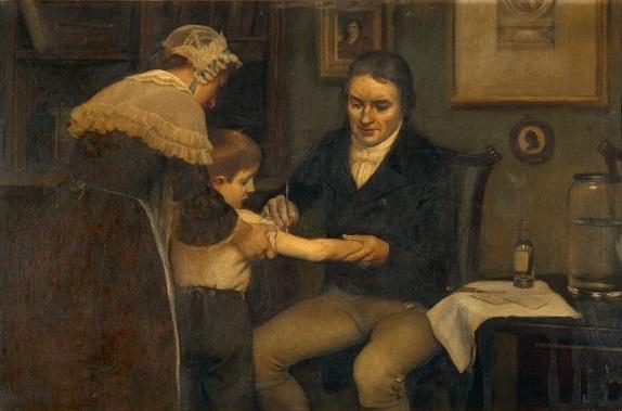 ภาพวาดของเจนเนอร์ Edward Jenner