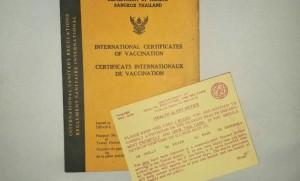 สมุดเล่มเหลือง - วัคซีนเพื่อการท่องเที่ยว