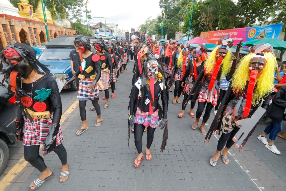 Parade Festival of 10th month in South Thailand เปรตพาเรด